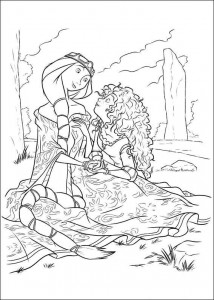coloring page Brave (17)