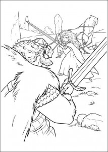 coloring page Brave (23)