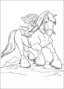 coloring page Brave (28)