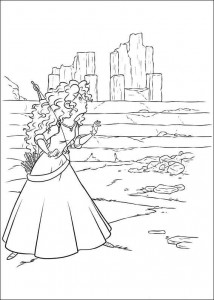 coloring page Brave (3)