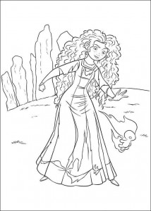 coloring page Brave (47)