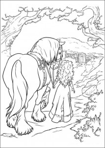 coloring page Brave (57)