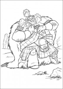 coloring page Brave (6)