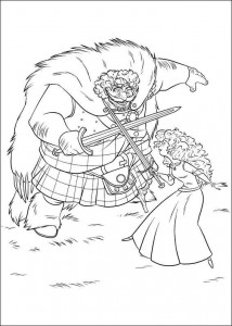 coloring page Brave (62)