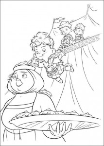 coloring page Modig