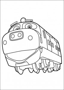 coloring page Brewster is happy