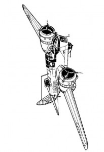 kleurplaat Bristol Blenheim Mk IV 1941