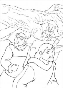 kleurplaat Brother bear 2 (11)