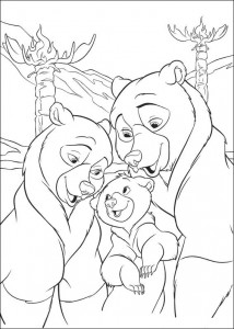 kleurplaat Brother bear 2 (18)