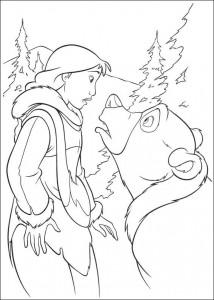 kleurplaat Brother bear 2 (25)