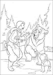kleurplaat Brother bear 2 (26)