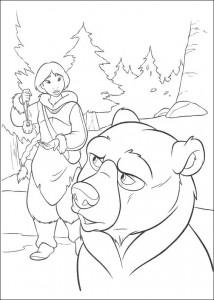 kleurplaat Brother bear 2 (27)