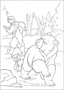 målarbok Brother bear 2 (28)