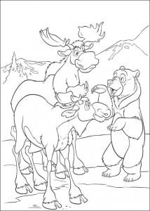 kleurplaat Brother bear 2 (31)