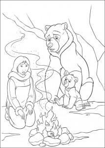 kleurplaat Brother bear 2 (4)