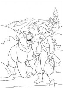 kleurplaat Brother bear 2 (43)
