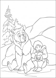 kleurplaat Brother bear 2 (49)