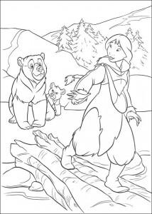 kleurplaat Brother bear 2 (50)