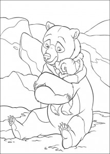 kleurplaat Brother bear 2 (56)