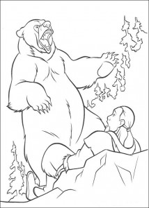 kleurplaat Brother Bear (6)