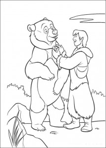 coloring page Brother Bear