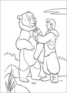 kleurplaat Brother Bear