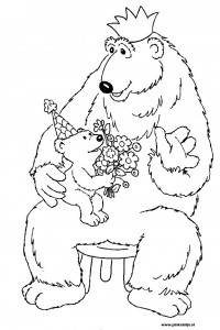 coloring page Brown bear (10)