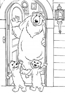 coloring page Brown bear (9)