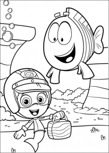 Disegno da colorare Bubble Guppies (7)