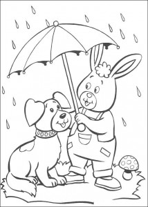 coloring page Bumpy and rabbit