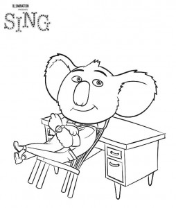 buster coloring page