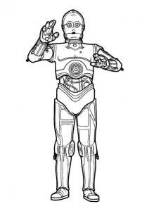 coloriage C3PO