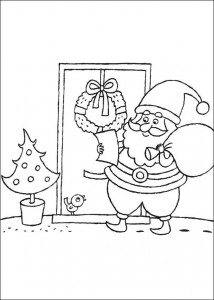 coloring page Delivering presents