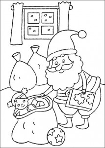 coloring page Presents