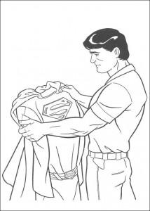 раскраска Calrk и его костюм супермена