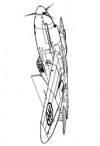 kleurplaat Caproni Reggiana 2001 Falco II 1942