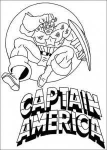 coloring page Captain America (11)