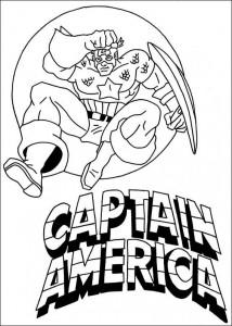kleurplaat Captain America (11)