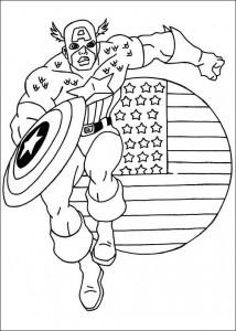 kleurplaat Captain America (2)