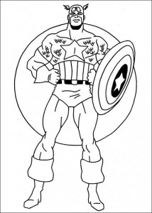 coloring page Captain America (22)