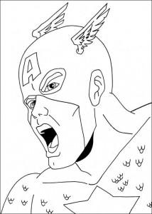 kleurplaat Captain America (6)