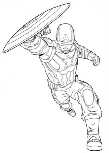 coloring page Captain America Civil War (10)
