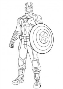 coloring page Captain America Civil War (3)