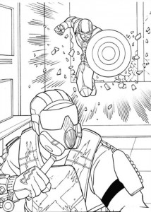 coloring page Captain America Civil War (6)
