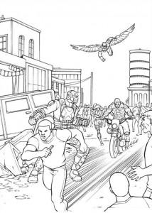 målarbok Captain America Civil War (8)