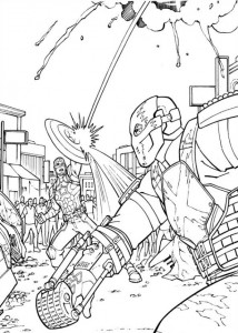 målarbok Captain America Civil War (9)