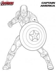 kleurplaat Captain America