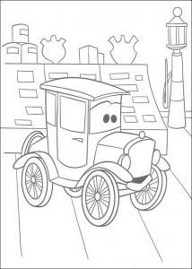 målarbok Bilar