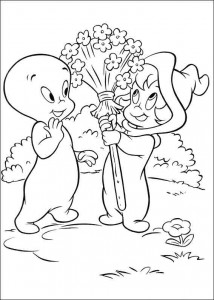 coloring page Casper Wendy