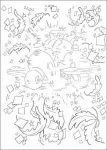 målarbok Katt i hatten (1)